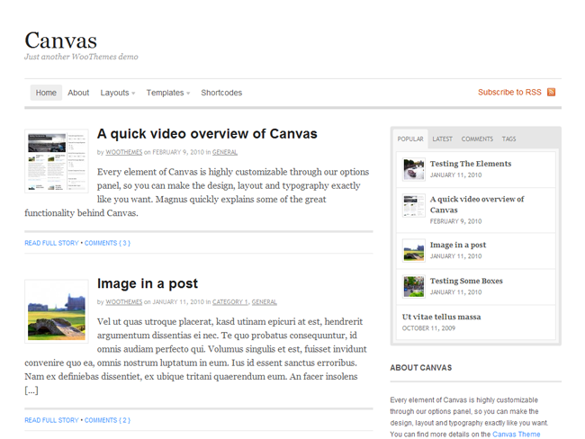 Canvas Theme Framework