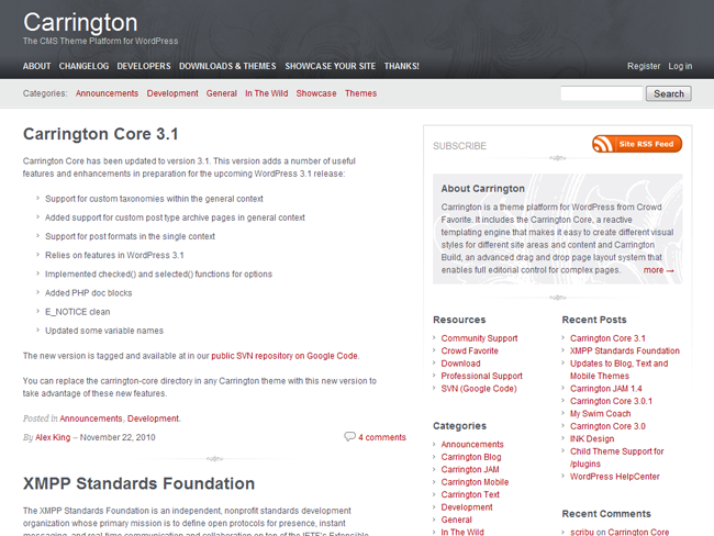 Carrington Blog Theme