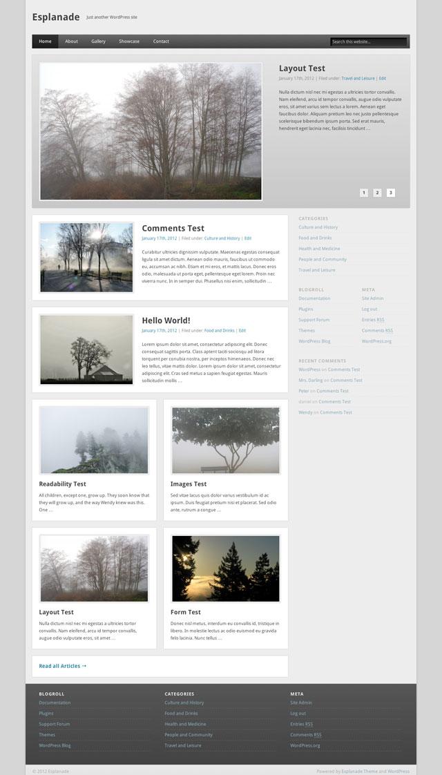 Esplanade Home Page