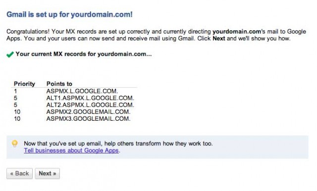 how to find gmail mx record