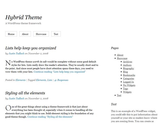 Hybrid Theme Framework