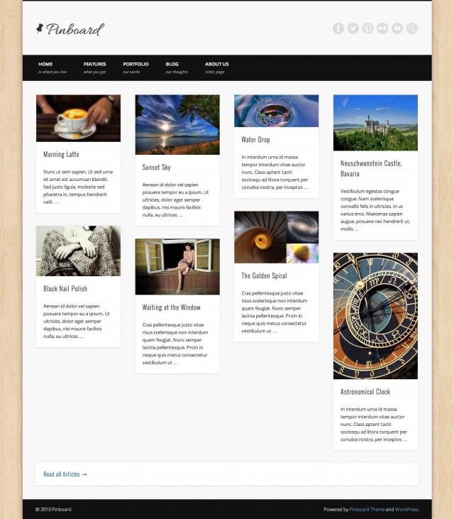 Pinboard Blog 4 Columns