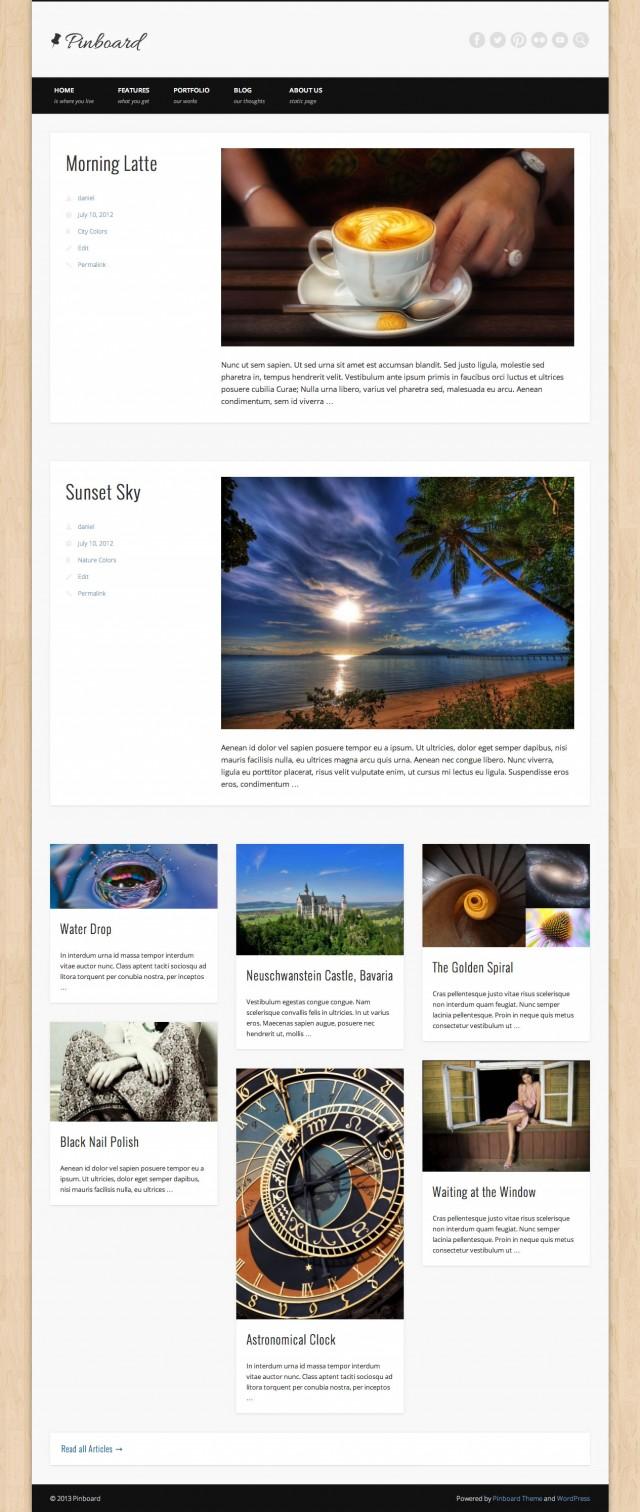 Pinboard Blog Full Width