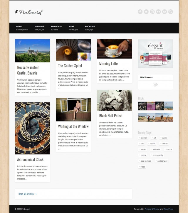 Pinboard Blog Right Sidebar