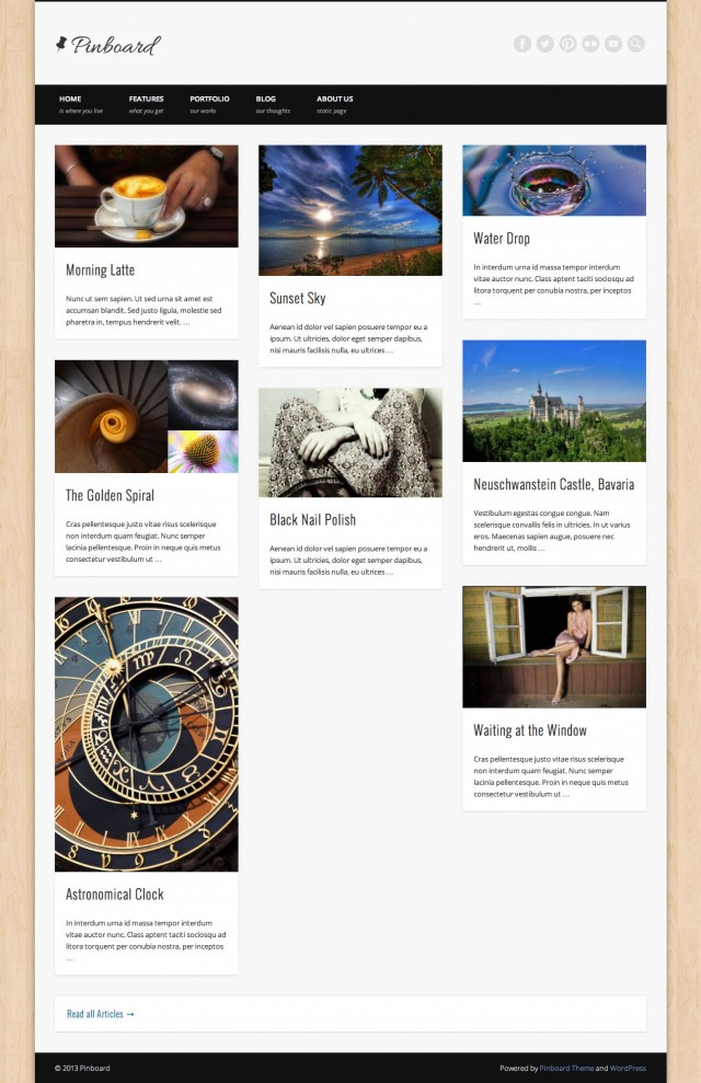 Pinboard No Leading Articles