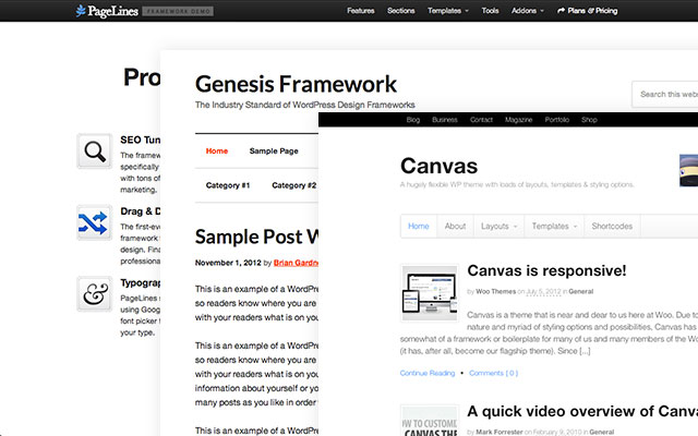 5+ WordPress Theme Frameworks Compared